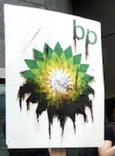 oiled bp sign